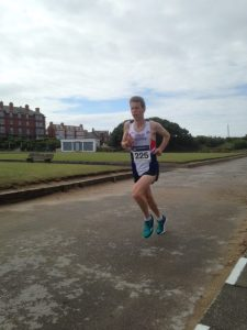 Castle coaching fitness coach Chris Hollinshead finishing 2nd in the Fleetwood half marathon